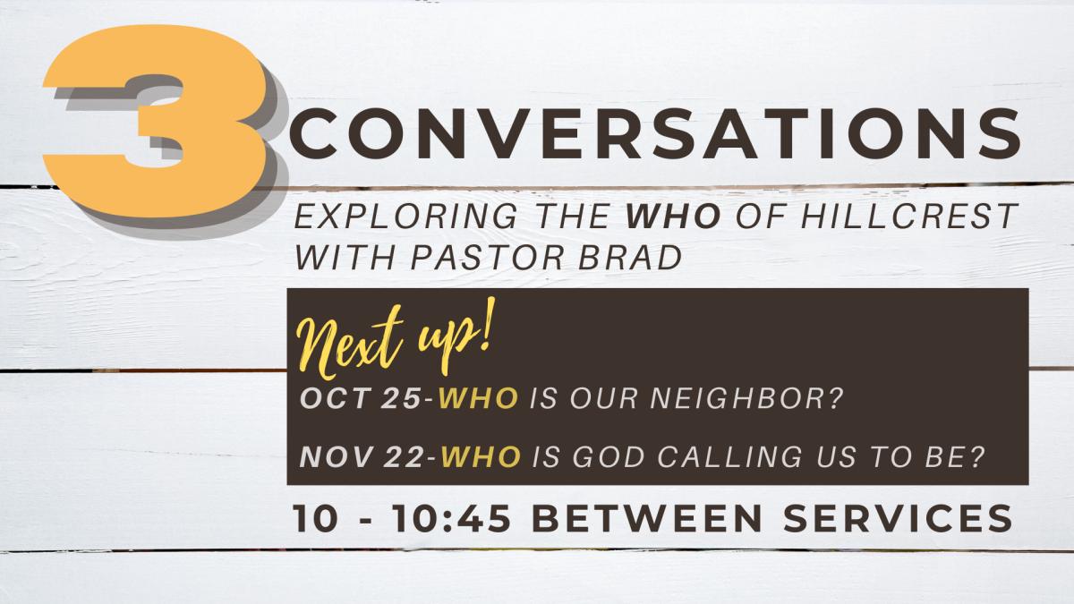 3 Conversations with Pastor Brad
